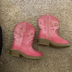 Pink cowboy boots size 5 toddler